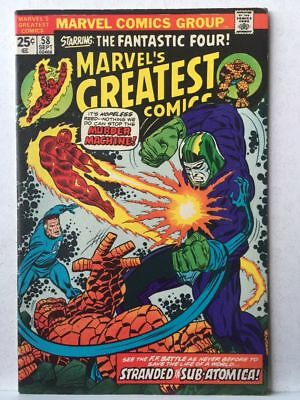 Marvel's Greatest Comics # 58 VF Fantastic Four # 76 Free Postage