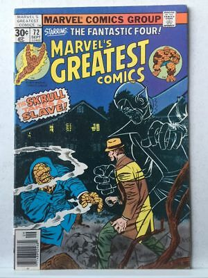 Marvel's Greatest Comics # 72 VF- Fantastic Four # 90 Free Postage