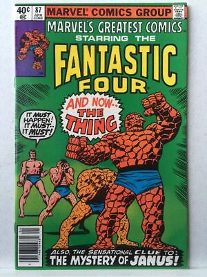 Marvel's Greatest Comics # 87 VF/NM Fantastic Four # 107 Free Postage