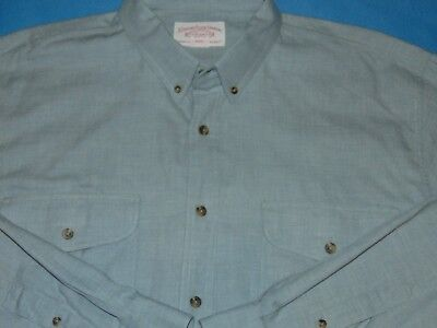 C.c. Filson Cotton/wool Lt Blue Gray L/s Button Down Shirt 2Xl Mint Cond.