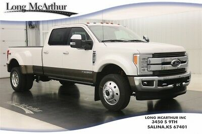 2017 Ford F-450 KING RANCH 4X4 DIESEL SUPER DUTY CREW CAB DUALLY MSRP $83120 4WD 4 DOOR CHROME PACKAGE ULTIMATE TRAILER TOW CAMERA ADAPTIVE CRUISE STEERING