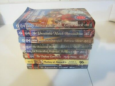 Lot of 8 SIGNET REGENCY Romance Books  Various Authors Paperback