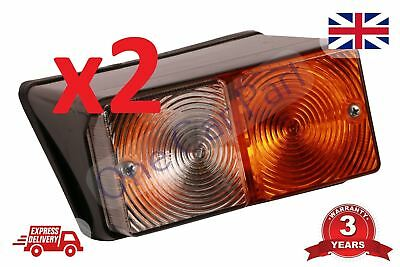 PAIR Ford 2610 3610 4000 4610 5000 5600 7700 Tractor 550 Digger Front Light Lamp