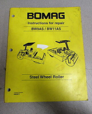Bomag BW9AS BW11AS Steerl Wheel Roller Instructions Service Repair Manual 1995