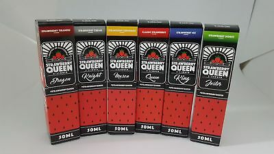 Strawberry Queen E-Liquid 60ml Short Fill 0mg Premium Liquid CHEAPEST ORIGINAL