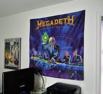 MEGADETH Rust In Peace HUGE 4X4 BANNER poster tapestry wall decor cd album