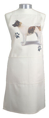 Akita Paws Breed of Dog Cotton Apron Double Pockets UK Made Baker Cook Gift