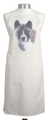 Akita Breed of Dog Cotton Apron Double Pockets UK Made Baker Cook Gift