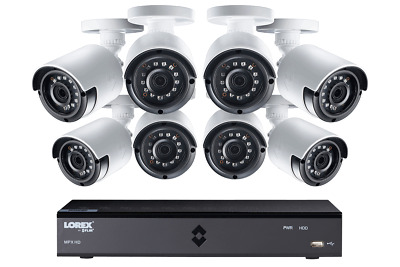 Lorex 1080p Camera System with 8 Channel DVR and 8 1080p Outdoor Security Camera