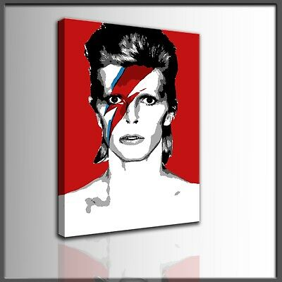 Quadro moderno ritratto David Bowie dipinto a mano su tela  pop art rock