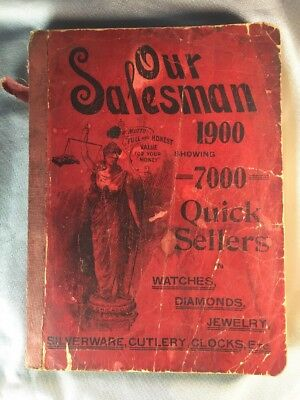 Our Salesman CATALOG 1900 7000 Items jewelry, clocks, watches, silver 504 pages