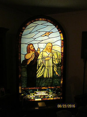 Beautiful Jesus Vintage Stained Glass Church Window Late 1800's