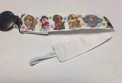 Baby Boy Girl Pacifier Clip Leash Holder Paw Patrol Chase Marshall Sky Rocky