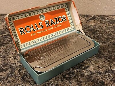 Vintage Rolls Safety Razor In Original Box With Instructions
