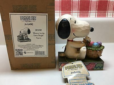 New JIM SHORE PEANUTS Hooray For The Easter Beagle Snoopy Figurine 4042382