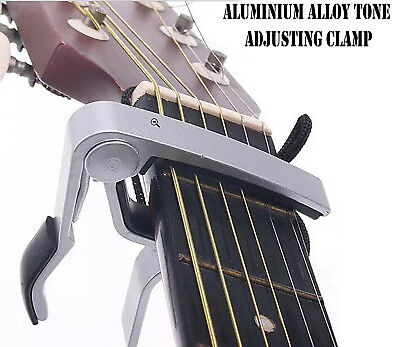 Aluminum Alloy Tone Adjusting Silver Guitar Capo Electric Acoustic Clamp| lifafa