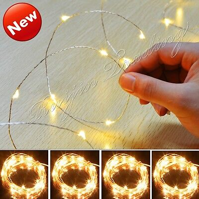 20/30/40/50/100Led Micro Wire String Fairy Party Xmas Wedding Christmas Light Lc