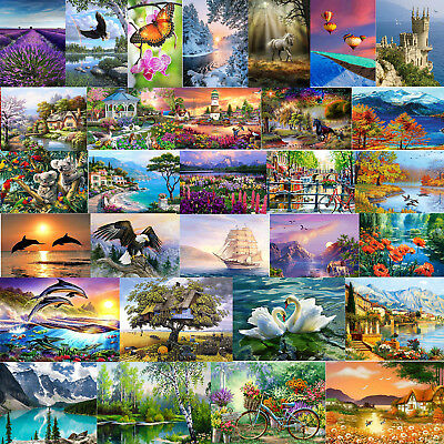Full Drill 5D DIY Natural Scenery Diamond Painting Embroidery Craft Home Decor