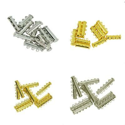 10pcs Multi Strand Slide Magnetic Tube Clasps Hook Necklace DIY Jewelry Findings