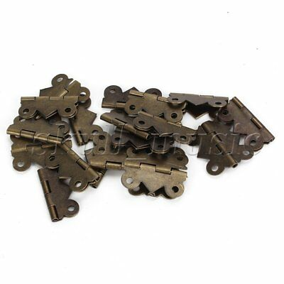 20pcs Deco Vintage M Size bronze Butterfly Hinges For Drawer Jewelry Box
