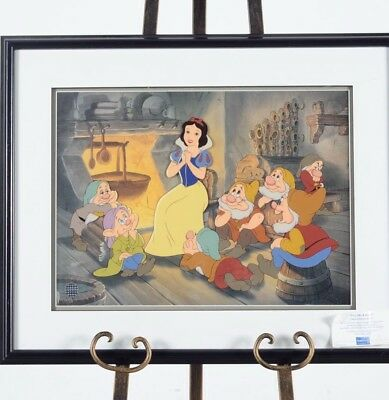 "Disney Snow White and the Seven Dwarfs ""Tell Me A Story"" LE Framed Sericel w/CoA"