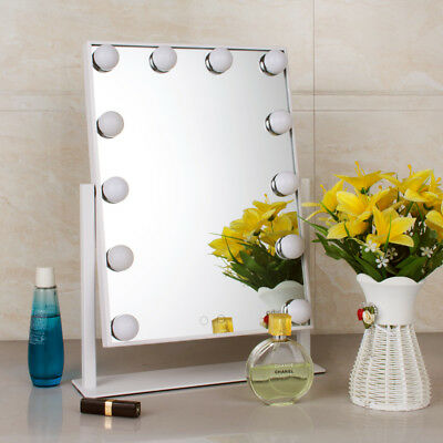 Hollywood Vanity Makeup Mirrors with 12 Led Bulbs Larger Dressing Table Mirror