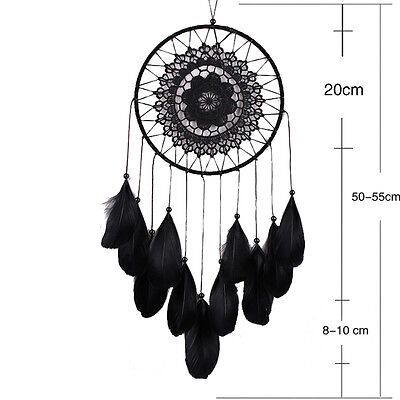 Handmade Lace Dream Catcher Feather Bead Hanging Decoration Ornament Decor ''