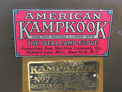1927 American Gas Machine KampKook No.7 Stove AGM Box and Never Used with papers