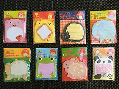 8 Packs Cute Animals Post-it Sticker Notepad Note Pad Bookmark Memo Marker