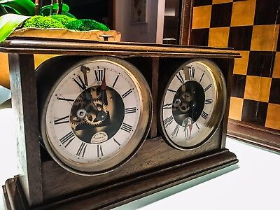 Rare Antique Chess Clock timer W.E. Tanner circa 1890