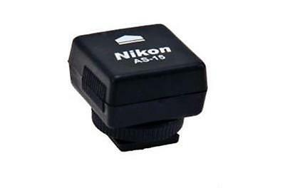 Nikon AS-15 Hot Shoe Adapter with PC Terminal. Brand New.