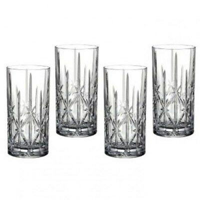 New Waterford Marquis Sparkle Hi Ball Glass Set of 4