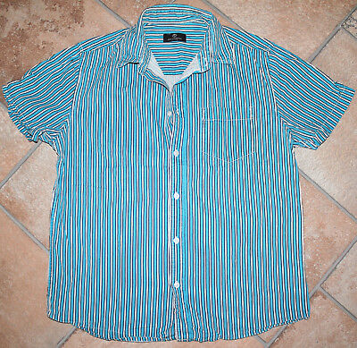 Herren Hemd blau gestreift Gr. 39 / 40 / M von Grey Connection