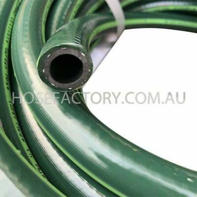 30M Heavy Duty 12MM Flexible Rubber Water Garden Hose 8.5/10 Kink-Free 1/2""