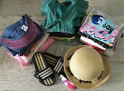 GIRLS SZ  5 - 6 bulk clothing hat adidas thongs LOTS OF DRESSES
