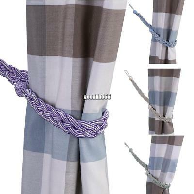 1 Pair Of Braided Satin Rope Curtain Tie Backs Tiebacks Holdbacks Curtain EA9