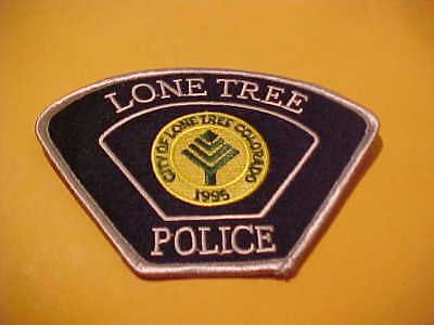 Lone Tree Colorado  Police Patch Shoulder Size New