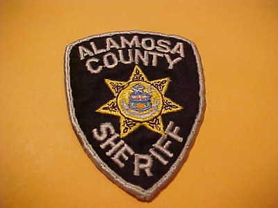 Alamosa County Colorado  Police Patch Shoulder Size Used 4 X 3 Inch