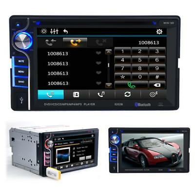 Double 2 Din 6.2 In Dash Stereo Car DVD CD Player Bluetooth Radio Handsfree Call