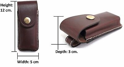 Leather Knife Pouch with Belt Loop on reverse. Black or Brown. Style No: 31004.