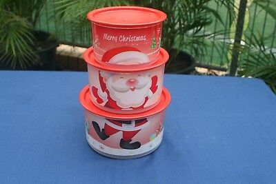 Set of 3 Tupperware Christmas Canisters - BRAND NEW
