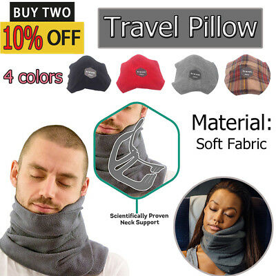 OZ Portable Soft Comfortable Travel Pillow Proven Neck Support Sitting Nap