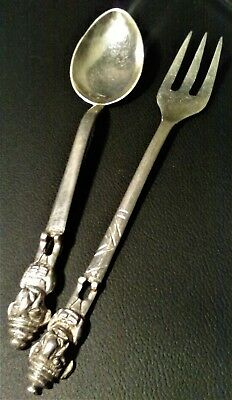 Fork and Spoon Set Coining Silver circa 1920's, Made in Scotland