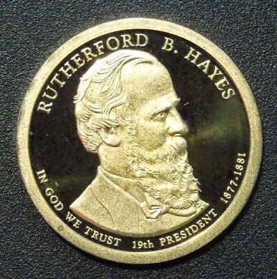 2011- S 1 DOLLAR RUTHERFORD B.HAYES PRESIDENTIAL PROOF SERIES San Francisco mint