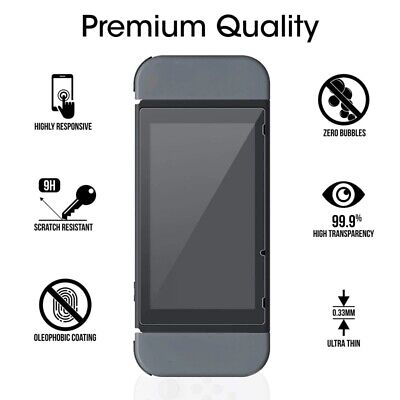 2x For Nintendo Switch Premium Tempered glass Screen Protector Film Guard Sheet