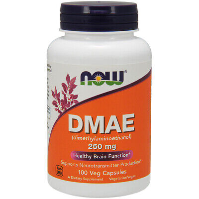 DMAE : 250mg x 100Vcaps : NOW Foods : MEMORY - SKIN