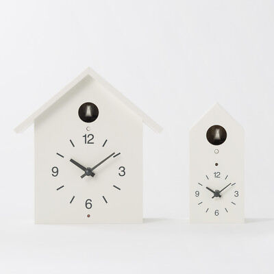 NEW MUJI Japan Cuckoo Clocks wood Wall Clocks white Handmade Bellows system F/S
