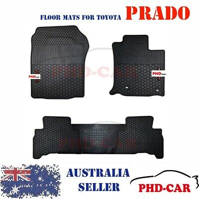 Toyota Land Cruiser Prado 150 Tailored All Weather Rubber Car Floor Mats Red