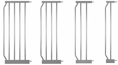 Extensions MIKA | 4 dimensions | SILVER U-Rail, Y-adapters safety gates stairs