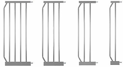 Extensions for Stair- & Safety Gate MIKA - SILVER , U-Rail, Y-adapters,